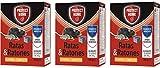 PROTECT HOME Raticida Mata Ratas en Bloques para Zonas húmedas Alta eficacia y atracción Ratones-15 x 20gr (300gr) – Pack de 3 Unidades, Rojo