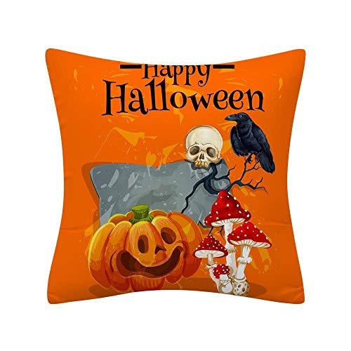JiYanTang Halloween plush toys,Halloween Cushion Cover Decorative Throw Pillow Cover 45x45cm Yellow Pumpkin Pillow Case Wizard Home Decor Witch Pillowcase 1pc 450mm*450mm Pink