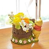 florence du プリザーブドフラワー ディズニー くまのプーさん アレンジメント クリアケース付 フラワーギフト プレゼント 贈り物 花 誕生日 女性 結婚記念日