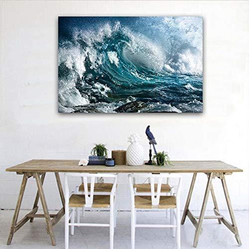GJQFJBS Leinwand Kunstdruck Poster Hd Fotografie Kunst Ozean Landschaft Wandbild Wohnzimmer Dekoration A2 50x70 cm