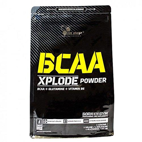 Olimp BCAA XPLODE - Zip bag - Antikatabol, Geschmack Erdbeere, 1er Pack (1 x 1 kg)