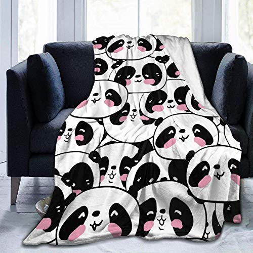 ujmki Lindo Panda Headcherrymo manta de franela antipilling abrigo de forro polar premium cálido capa 50 60 pulgadas para adolescente
