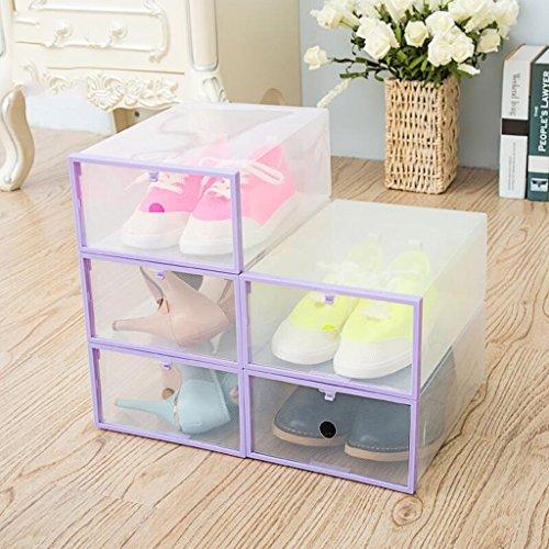 Xuan - Worth Another Violet 5 Pcs (29 * 20 * 11cm) Boîte de Chaussure Transparente en Plastique Type de tiroir Boîte à Chaussures Boîte de Rangement antipoussière Boîte de Finition