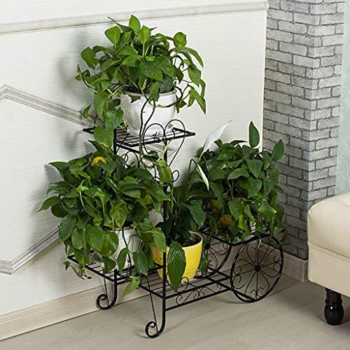 GWFVA Afwerkingspot voor bloempotten. Creatieve metalen bloempot woonkamer binnen en buiten balkon decoratie kom bloem gemonteerd Potted Plant Stand (kleur: C)