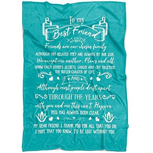 to My Best Friend, Friend are Our Chosen Family Blanket Fleece Blanket/Velveteen Plush Blanket 30x40,50x60,60x80 Fleece Blanket/Velveteen Plush Blanket 30x40,50x60,60x80.