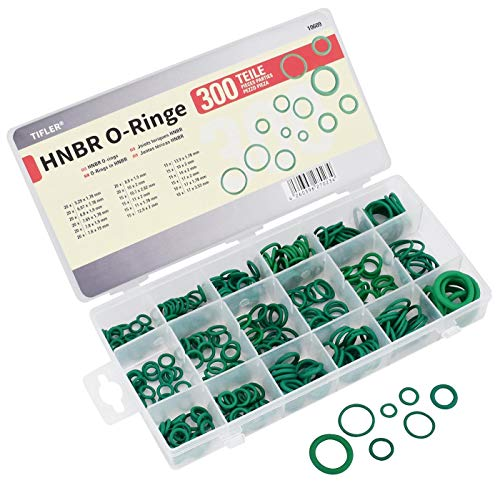 300 HNBR O-Ringe im Sortiment mit vielen Größen, hohe Widerstandsfähigkeit