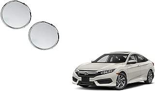 Autoladders Chrome Blind Spot Mirror Set of 2 for Honda Civic
