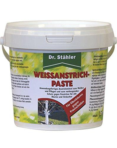 Dr. Stähler 001397 weißanstrich-Paste 1,5 kg gegen Frostschäden an Obstbäumen