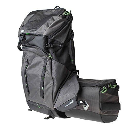 Mindshift Gear Rotation180 Horizon Charcoal Outdoor-Rucksack (Fotorucksack, Wanderrucksack) mit rotierender Hüfttasche für eine (große) DSLR- oder DSLM-Kamera und Zubehör (dunkelgrau/schwarz)