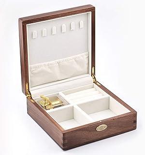 SOFTALK Vintage Square Wood Jewelry Box -Rhyme of spring Music Box Trinket Box Organizer Jewelry Decorative Box Keepsake G...