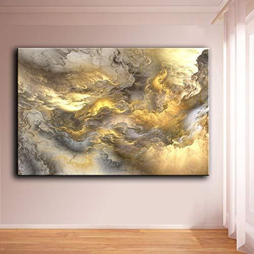 Cuadros de Arte de Pared para Sala de Estar decoración para el hogar Lienzo Mujer Silueta pintura60X120CM