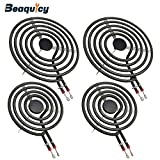 MP22YA Electric Range Burner Element Unit Set by Beaquicy - Replacement for Kenmore Whirlpool Maytag Hardwick Jenn Air Norge Ranges/Stoves - Package Include 2 pcs MP15YA 6' and 2 pcs MP21YA 8'