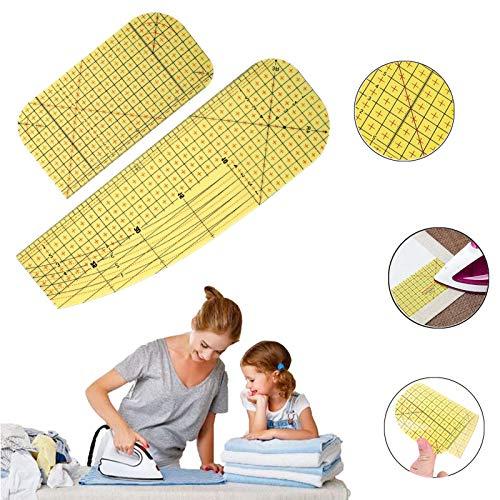 Regla de Planchado,2 piezas Regla de costura, DIY Tailor Craft Suministros de Costura,para hacer ropa y mediciones precisas