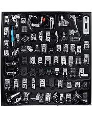 آلة خياطة بالضغط ، آلة خياطة احترافية للأقدام مجموعة اكسسوارات لوازم الخياطة للأخ، بيبي لوك، سينجر، إلنا، جانوم، كينمور (72 قطعة)