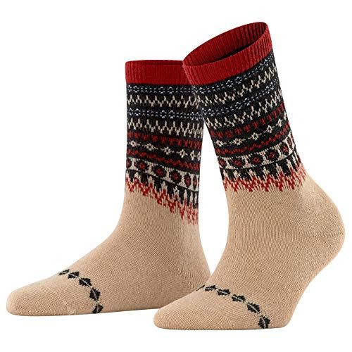 FALKE Damen Fjord W SO Socken, Beige (Camel 4220), 35-38