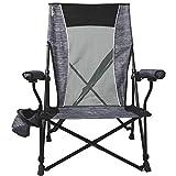 Kijaro Dual Lock Low Profile Hard Arm Camping Chair, Hallett Peak Gray (Kijaro Low Profile Hard Arm)