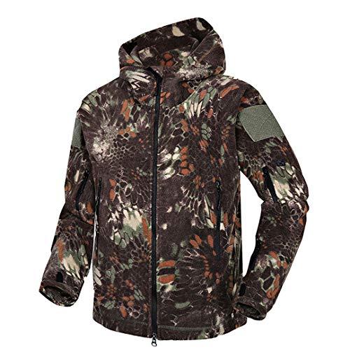 Ropa táctica Camuflaje vellón Militar para Hombre Abrigo Polar cálido para Hombre del ejército Prendas Vestir con Capucha Mad XXL