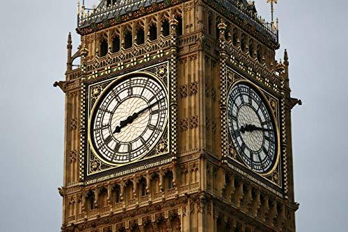 Puzzle 1000 piezas Famoso reloj antiguo Big Ben en Londres, Reino Unido Picture Art Gifts puzzle 1000 piezas clementoni Juegos familiares para adultos divertidos para niños Ro50x75cm(20x30inch)