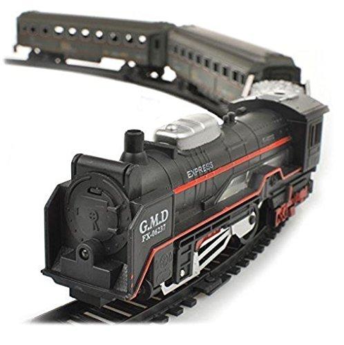 Premium eléctrica Realista Ferrocarril Rail King Nevada Express–Vapor Locomotora + 3vagones +...