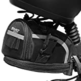 Aduro Sport Bike Saddle Bag Expandable Bicycle Seat Bag Bike Pouch Under Seat Storage Cycling Accessories Black