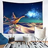 Tapiz de lámpara tapiz bosque seta arte tapices para colgar en la pared para sala de estar dormitorio hogar dormitorio decoración 150x130cm