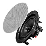 "OSD Audio 8"" Trimeless Thin Bezel in-Ceiling/in-Wall Speaker Pair 120W - ACE800"