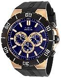 Invicta Pro Diver Men 54mm Stainless Steel Rose Gold Blue dial Quartz, 30729