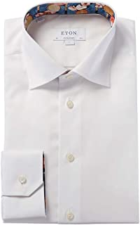 Mens Contemporary Fit Dress Shirt, 39, White