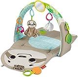 Fisher Price Gimnasio Sensorial Oso Perezoso, mantita y gimnasio para bebés recien nacidos (Mattel GNB52)