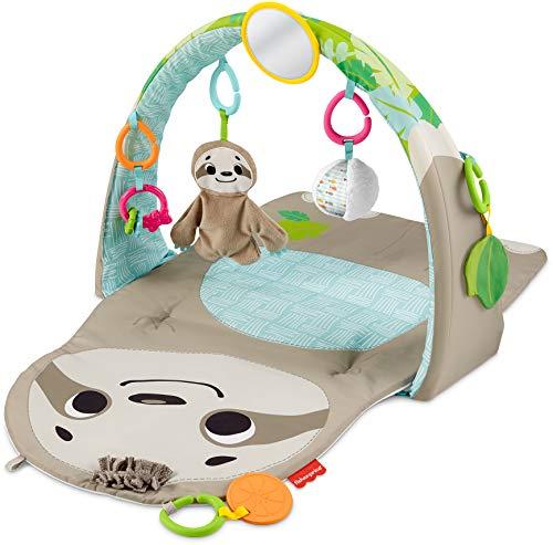 Fisher-Price GNB52 - Faultier Spieldecke mit 6 Sinnes Spielzeugen, für den Gebrauch ab der Geburt