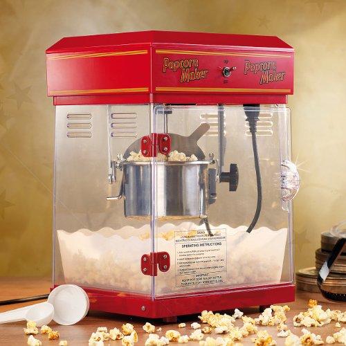 Rosenstein & Söhne – Popcornmaschine Profi – mit Edelstahl Topf – im 50er-Retro Stil - 2