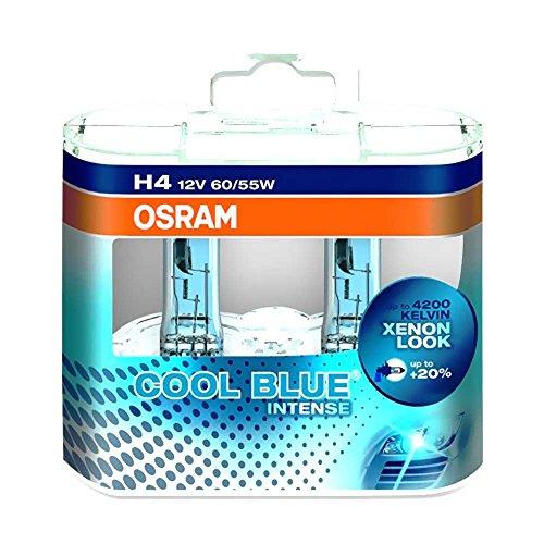 Osram 4008321650733 Lampe H4 12 V 60/55 W Duo Cool Blü Intense Blanc