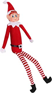 Yoodelife 12'' Long Leg Soft Body Vinyl Face Plush Dolls Elf with Hat & Tag for Christmas Holiday New Year Decoration Gift,1 Pack