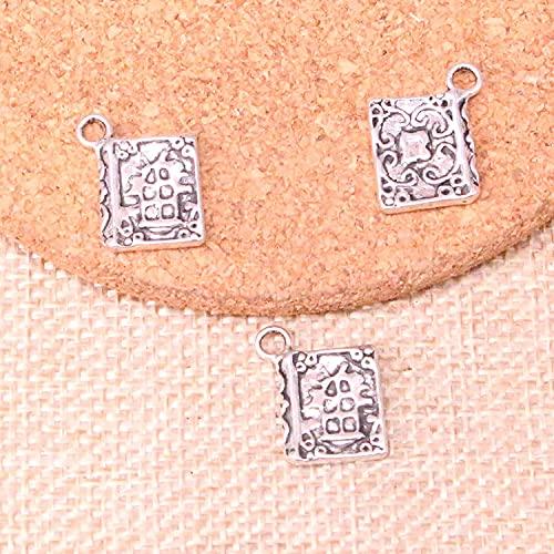 AMOZ Fashion92Pcs Libro Encantos Colgante de Aleación de Zinc para Collar, Pendiente Pulsera Joyería Diy Hecho a Mano 17 * 11 Mm