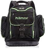Hilmor Tool Backpack, Storage Bag for HVAC Tools & Equipment, Black & Green, BKB 1839080