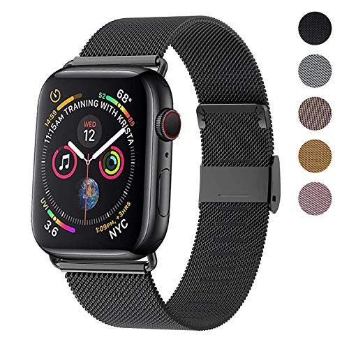 Correa del Reloj Compatible con Apple Watch de 38mm 40mm 42mm 44mm, Pulsera para Reloj de Reemplazo de Acero Inoxidable con Imán para iWatch Series 5/4/3/2/1