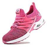 Zapatos de Seguridad Hombre Mujer Ligero Calzado Trabajo Zapatillas con Punta Acero Industriales Transpirable Seguridad Cómodas Antideslizante Anti Aplastamiento Pink40