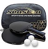 Juego de Raquetas de Tenis de Mesa Senston con 3 Pelotas, 2 Palos de Ping Pong Profesionales, Juego de Tenis de Mesa con Bolsa de Transporte