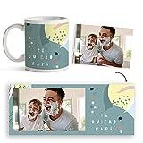 Fotoprix Taza Personalizada con Foto para Papá | Regalo Original día del Padre | Varios diseños Disponibles. (Diseño: Padre 4)