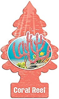 LITTLE TREES Car Air Freshener | Hanging Paper Tree for Home or Car | Coral Reef | 10 Pack