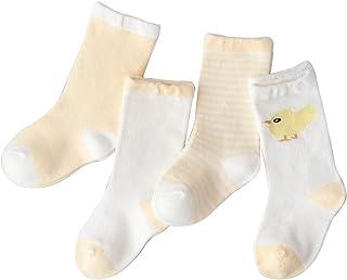 Bocotoer, Pack de 4 calcetines térmicos de dibujos animados para niños