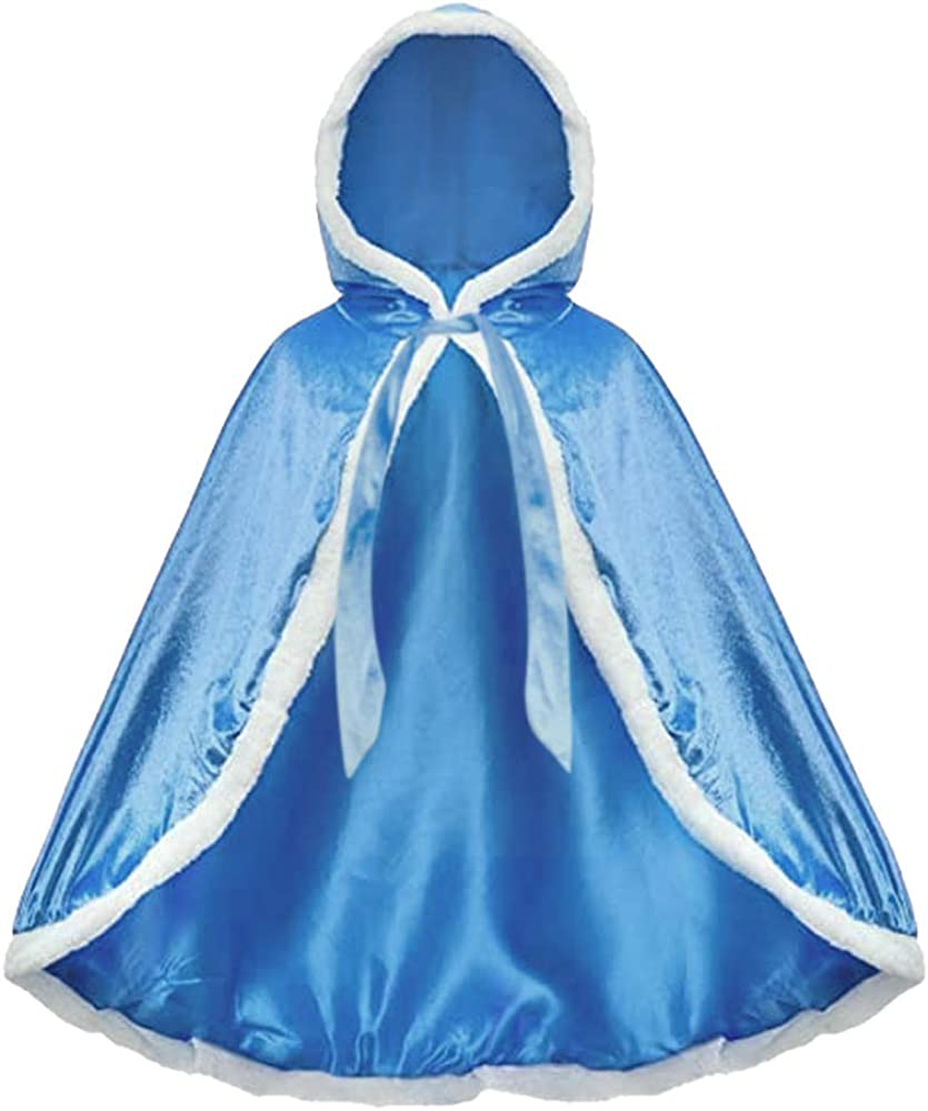 Newland Princess Hooded Cape Cloaks Costume Dress up for Girls Halloween Christmas Carnival Cospaly 3-10 Years.