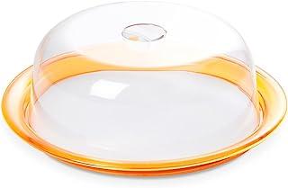Omada Design Moule à gâteau Globo, Keep Fresh Bell et plateau de 25 cm en plastique incassable, fabriqué en Italie, va au ...