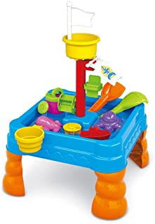 Lenoxx Kids Sand and Water Table - Toddler Bubble Splash Water Table - Splash and Scoop Kids Table – Detachable Legs – Bea...