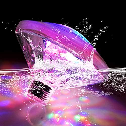 Esoes LED Unterwasser Licht Badewannenlicht Teich Pool Bunte Schwimmende Lampe Wasserdicht Party Glow Nachtlichter Unterwasser Disco Beleuchtung Licht 7 Beleuchtung Modi