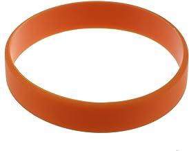 Senmubery Mode Siliconen Rubber Elasticiteit Polsband Manchet Armband Bangle Oranje