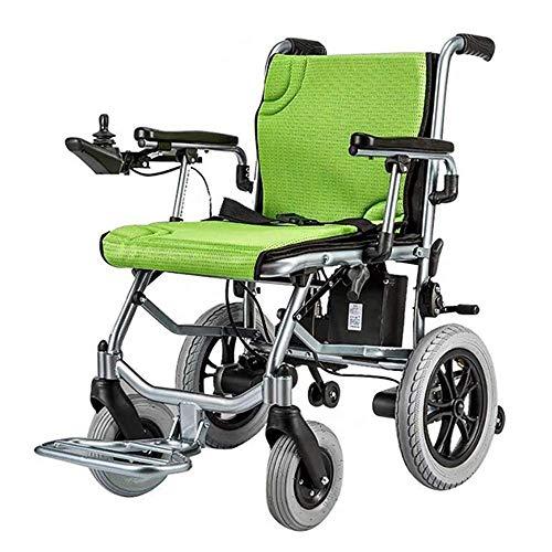 N/Z Inicio Equipo Silla de Ruedas eléctrica Plegable y Liviana con energía eléctrica o Silla de Ruedas Manual de hasta 13 Millas de Alcance para Ancianos discapacitados ✅
