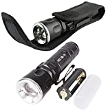 Generic 2016 New Adjustable 3000LM 5-Modes CREE XM-L T6 LED Flashlight Torch Lamp +Holster For 3XAAA 1X18650 easy operation