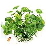 VOANZO Confezione da 5 piante d'acquario artificiali, decorazioni per acquari di piccole dimensioni, decorazioni per la casa in plastica (verde)
