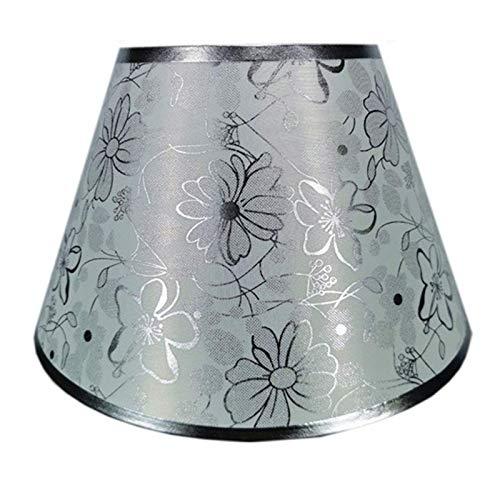 ADSE Pantalla de Tela de Lino Tradicional, Forro de PVC, Pantalla de Cono Elegante y contemporánea, Utilizada para lámpara de Mesa, lámpara de pie, B, 33 CM